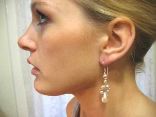 Pink Pearl Cluster Earring