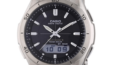 Photo of Casio Orologio Analogico-Digitale Quarzo Uomo con Cinturino in Titanio