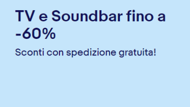 Photo of Nuova promo Ebay: TV e Soundbar fino al -60% di sconto