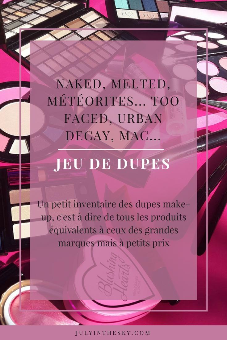 blog beauté jeu de dupes