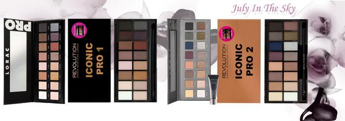 blog beauté Jeu de dupe : Pro Palette - Lorac - Iconic Pro 1 - Makeup Revolution - Pro Palette 2 - Lorac - Iconic Pro 2 - Makeup Revolution