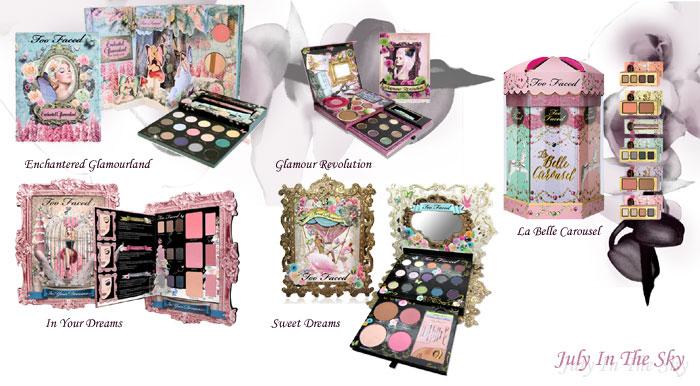 blog beauté objet collection édition limitée too faced enchantered glamourland glamour revolution la belle carousel in your dreams sweet dreams palette avis swatch
