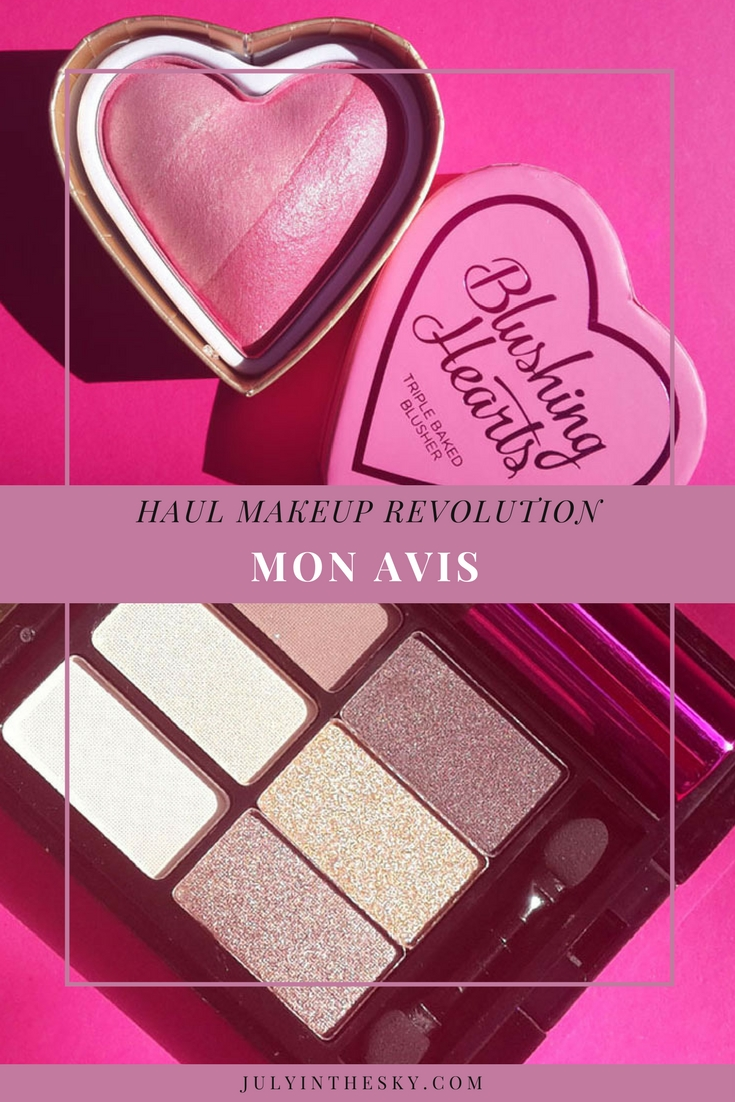 blog beauté Haul Makeup Revolution foundation and concealer brush ultra cover and conceal palette blush palette iconic blush bronze and brighten you're gorgeous palette