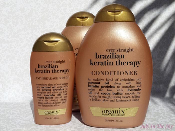 blog beauté organix shampooing conditionneur serum brazilian keratin therapy avis