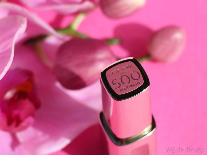 blog beauté laque color riche extraordinaire l'oréal molto mauve swatch test avis