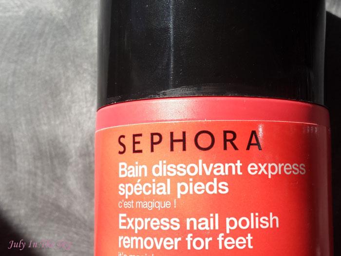 blog beauté routine manucure sephora bain dissolvant express pied avis