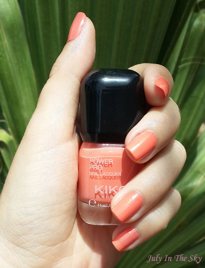 blog beauté vernis kiko power pro nail lacquer 08 papaya swatch avis test