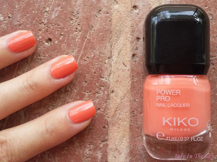 blog beauté vernis kiko power pro nail lacquer 08 papaya swatch avis test