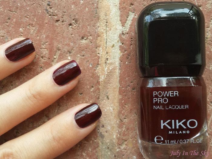 blog beauté vernis kiko power pro nail lacquer 15 wine swatch avis test