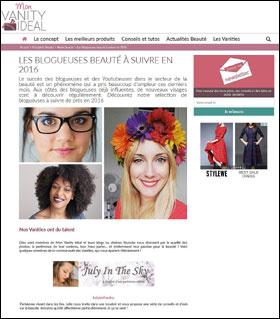 meilleur blog beauté 2016 à suivre sélection mon vanity idéal