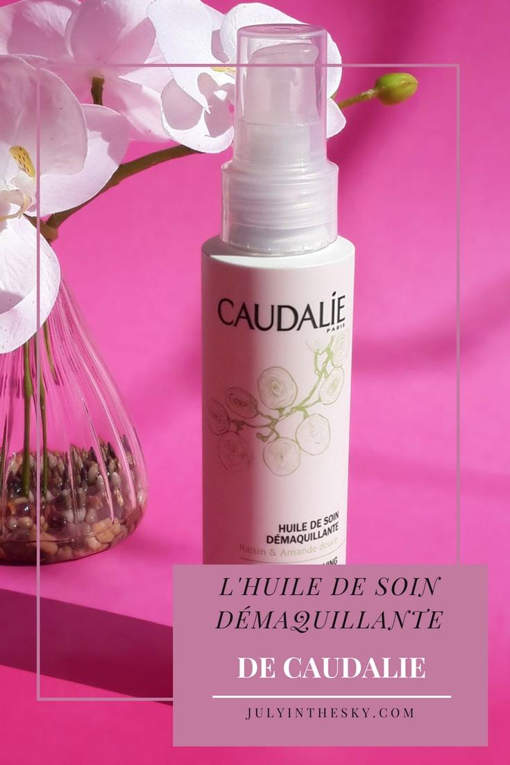 blog beauté avis test caudalie huile de soin demaquillante