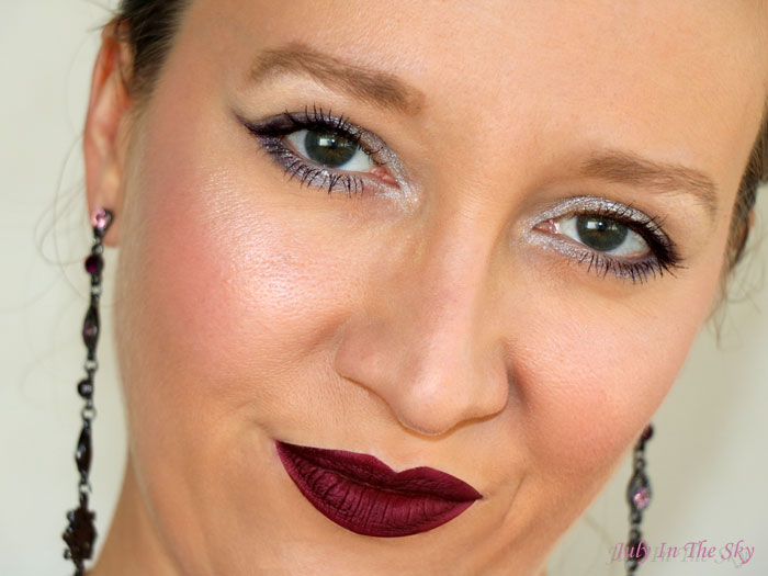 blog beauté make-up of the day réveillon argent violet givré dare to dazzle dose of colors avis test swatch