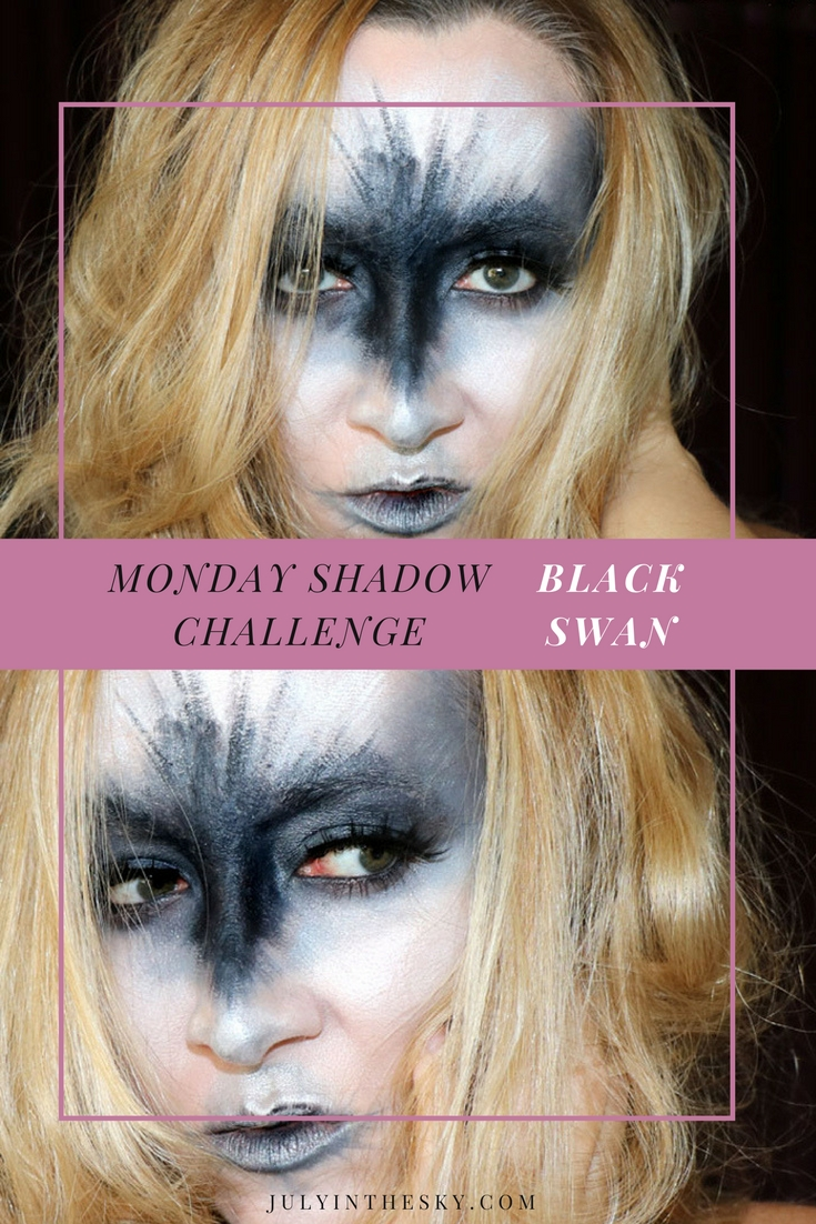 blog beauté maquillage monday shadow challenge black swan make-up artistique
