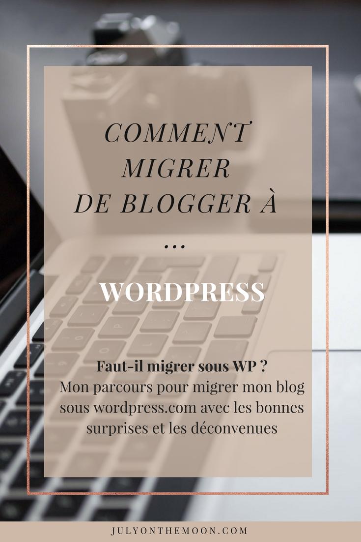 blog beauté migration blogger worpress.org ovh