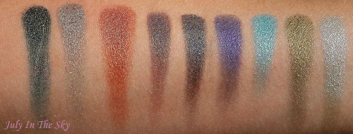 blog beauté fard makeup geek eyeshadow foiled pressed duochrome avis test z palette swatch