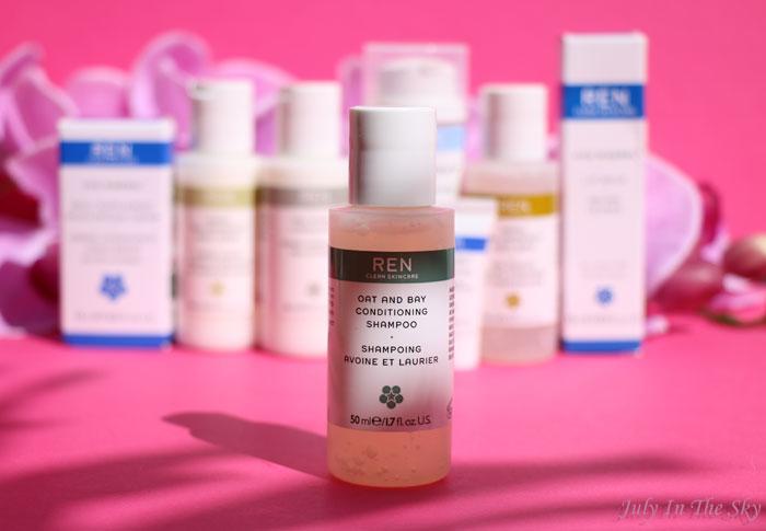 blog beauté ren skincare trousse grab & go Shampooing avoine et laurier