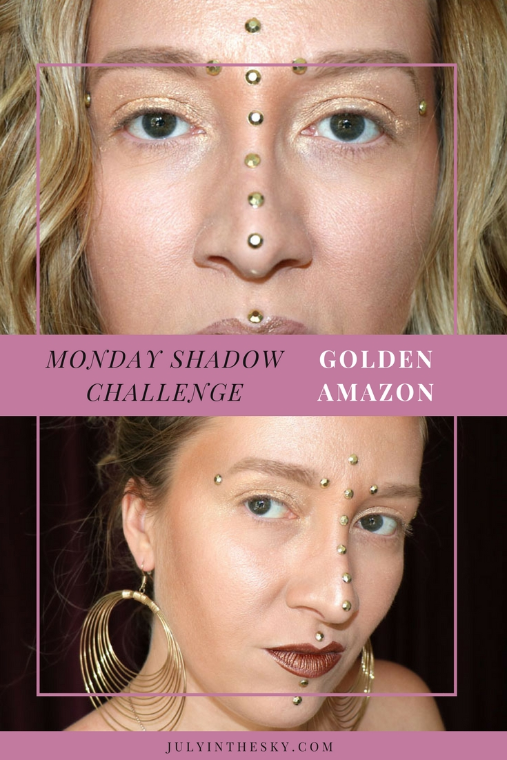 blog beauté maquillage monday shadow challenge golden amazon make-up artistique