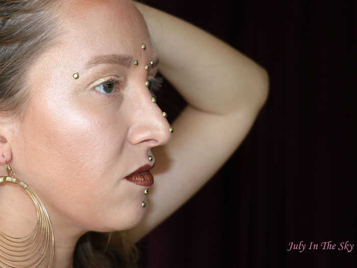 blog beauté monday shadow challenge golden amazon make-up artistique