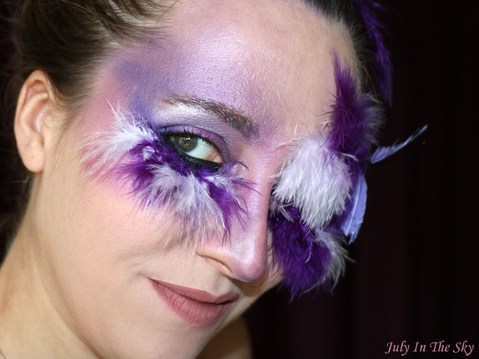 blog beauté monday shadow challenge purple plum faux cils make-up artistique