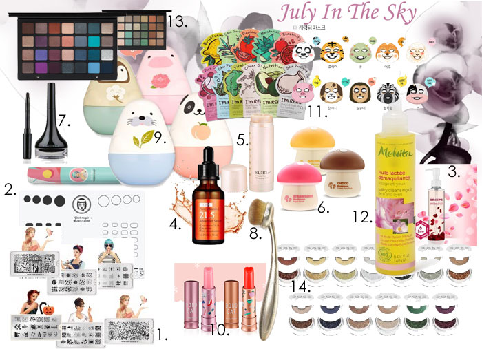 blog beauté wishlist printemps etude house melvita tony moly natasha denona sum37 recipe dose of colors