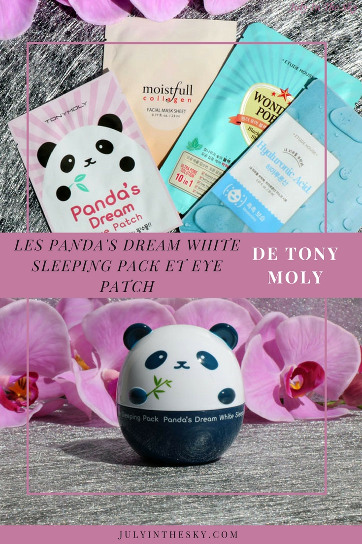 blog beauté Panda's Dream White Sleeping Pack Tony Moly