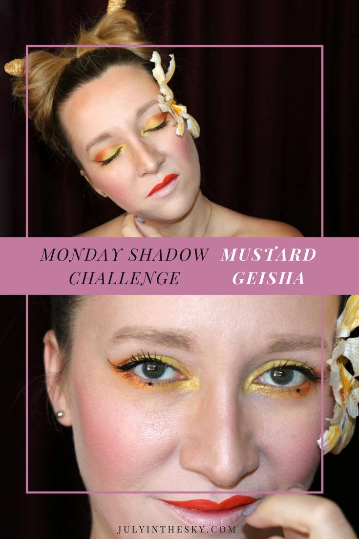 blog beauté maquillage monday shadow challenge mustard geisha