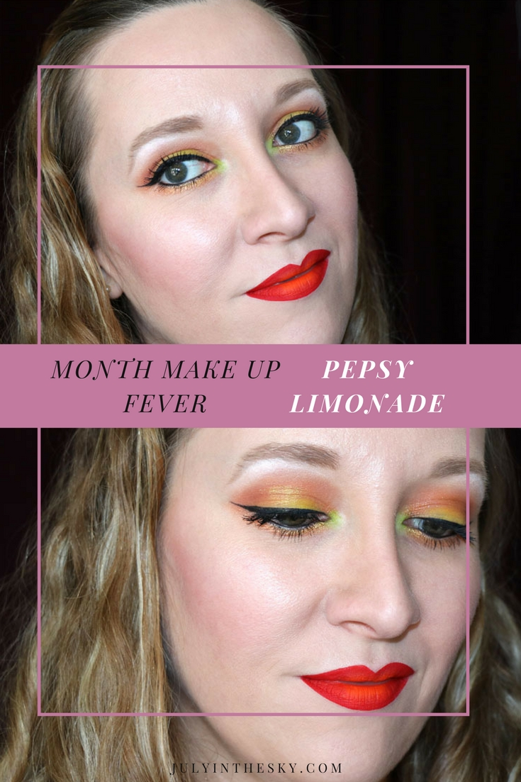 blog beauté maquillage month makeup fever pepsy limonade