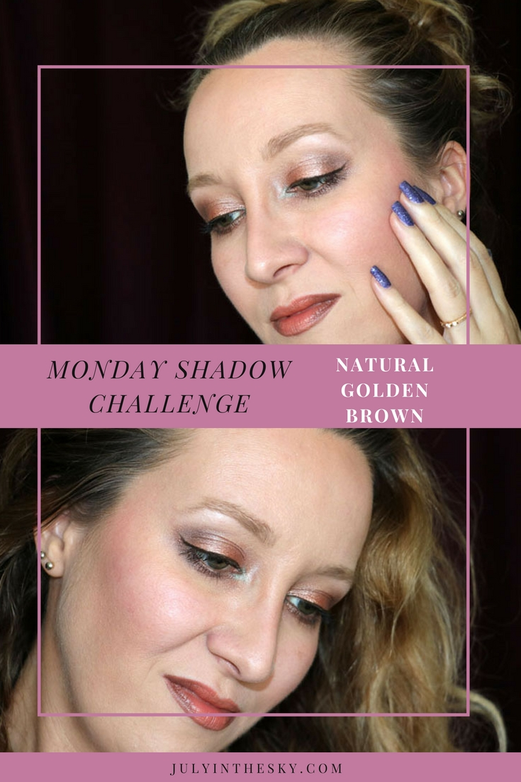 blog beauté maquillage monday shadow challenge natural golden brown