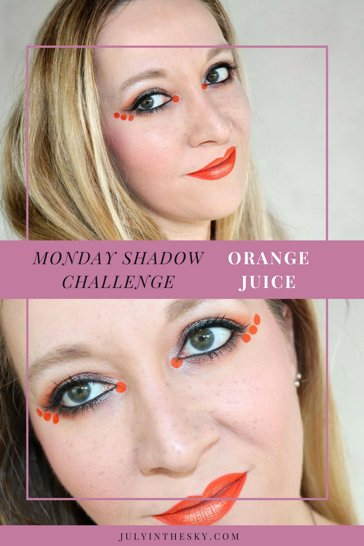 blog beauté maquillage monday shadow challenge orange juice