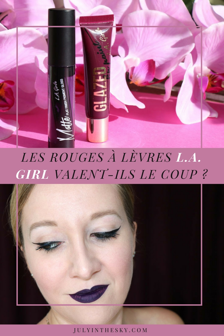 blog beauté la girl matte pigment gloss black currant glazed lip paint tempt