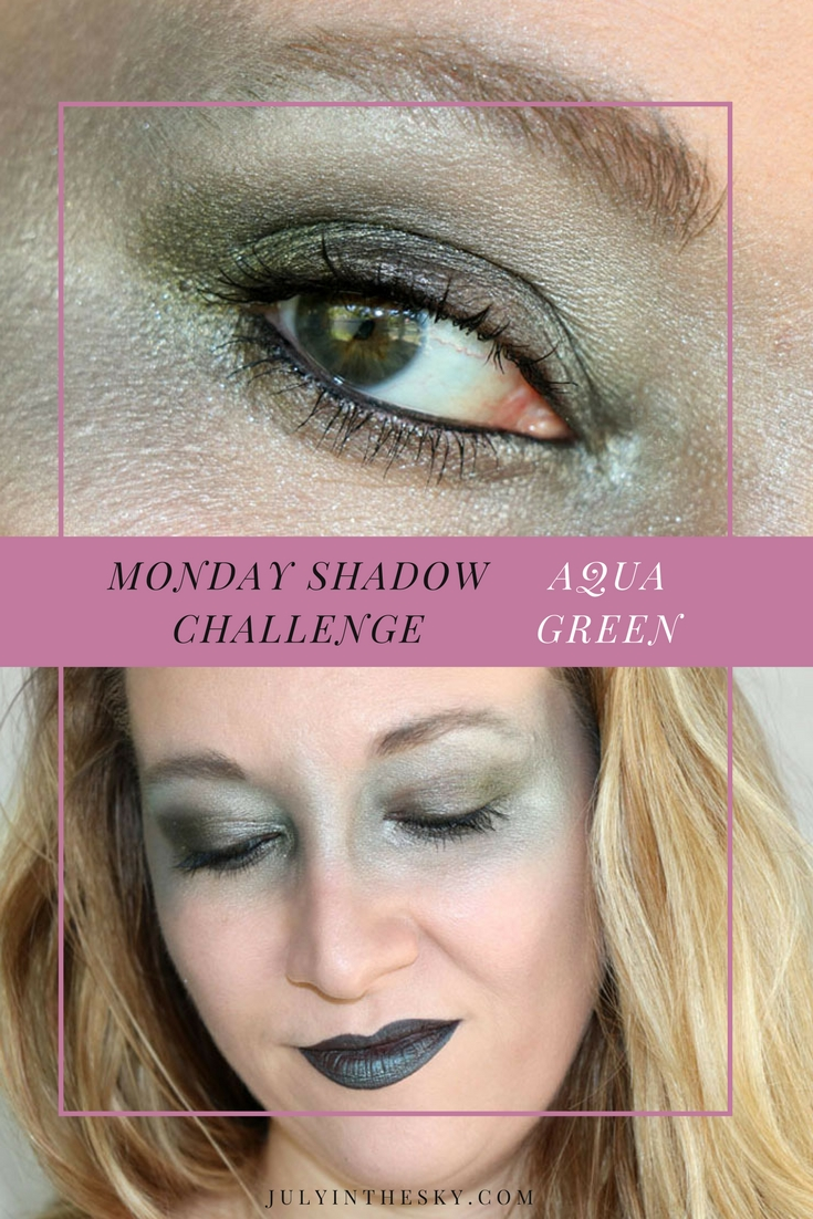 blog beauté maquillage monday shadow challenge aqua green