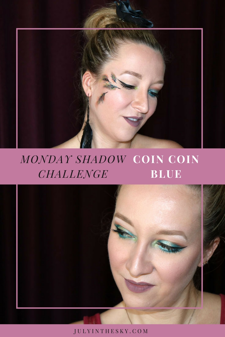 blog beauté maquillage monday shadow challenge coin coin blue