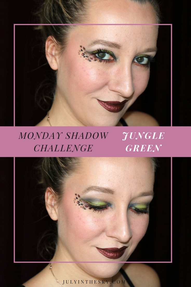 blog beauté maquillage monday shadow challenge jungle green