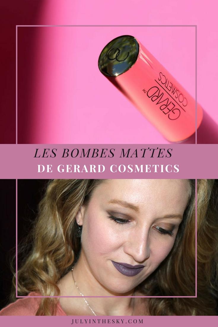 blog beauté hydra matte liquid lipstick gerard cosmetics gravity ecstasy swatch