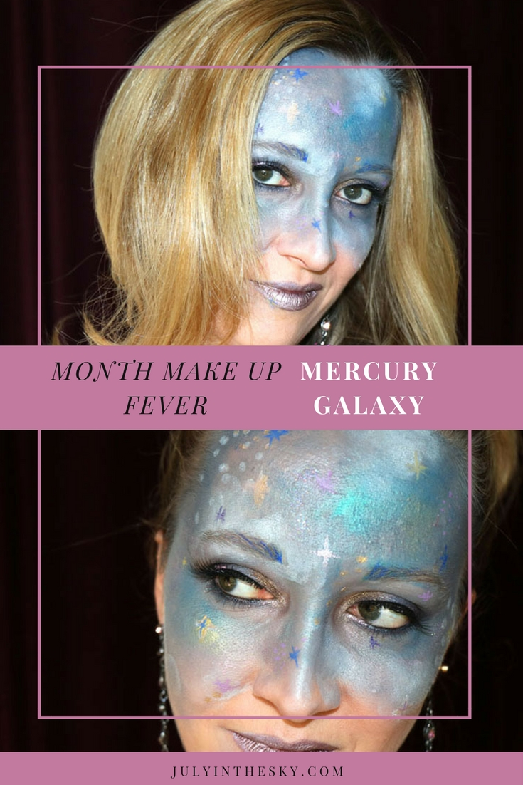 blog beauté month make up fever galaxie mercury galaxy make-up artistique