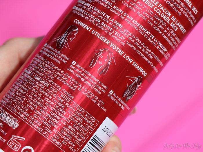 blog beauté low shampoo elsève color vive l'oréal avis