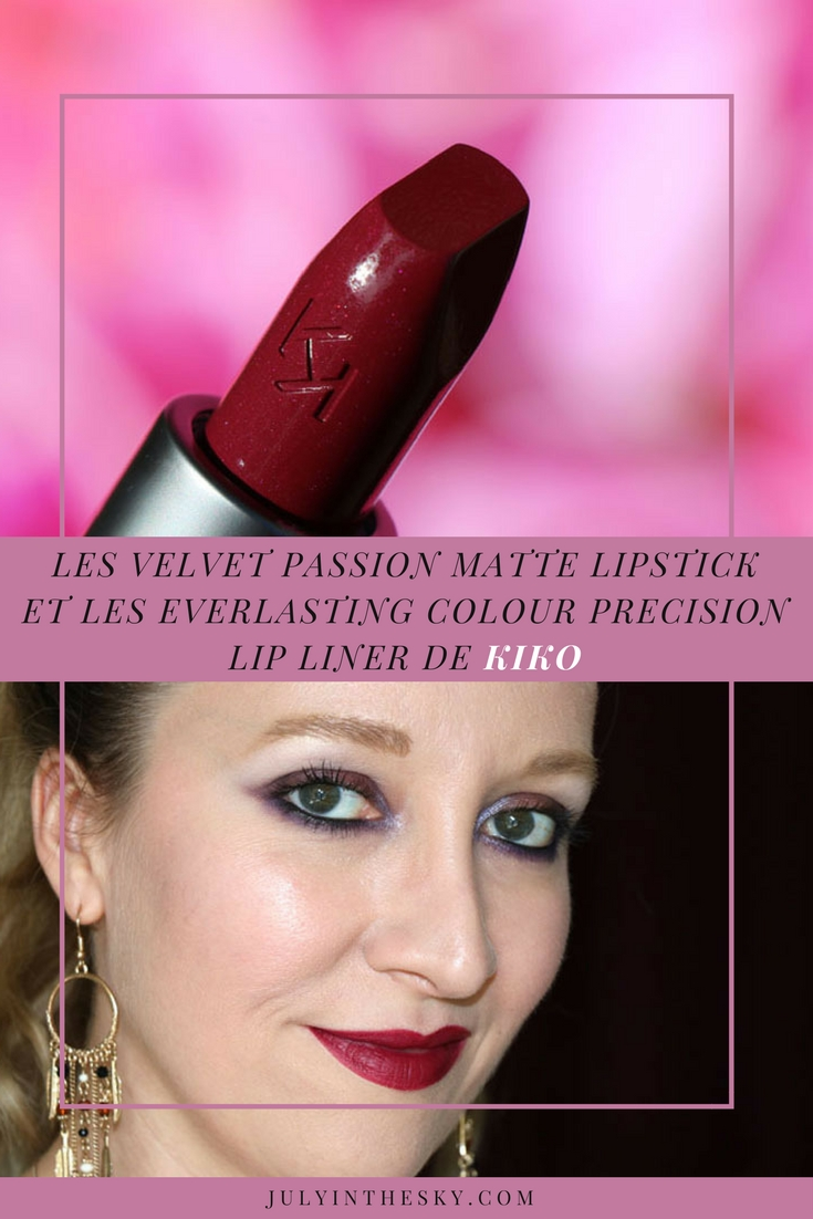 blog beauté velvet passion matte lipstick everlasting colour precision lip liner kiko