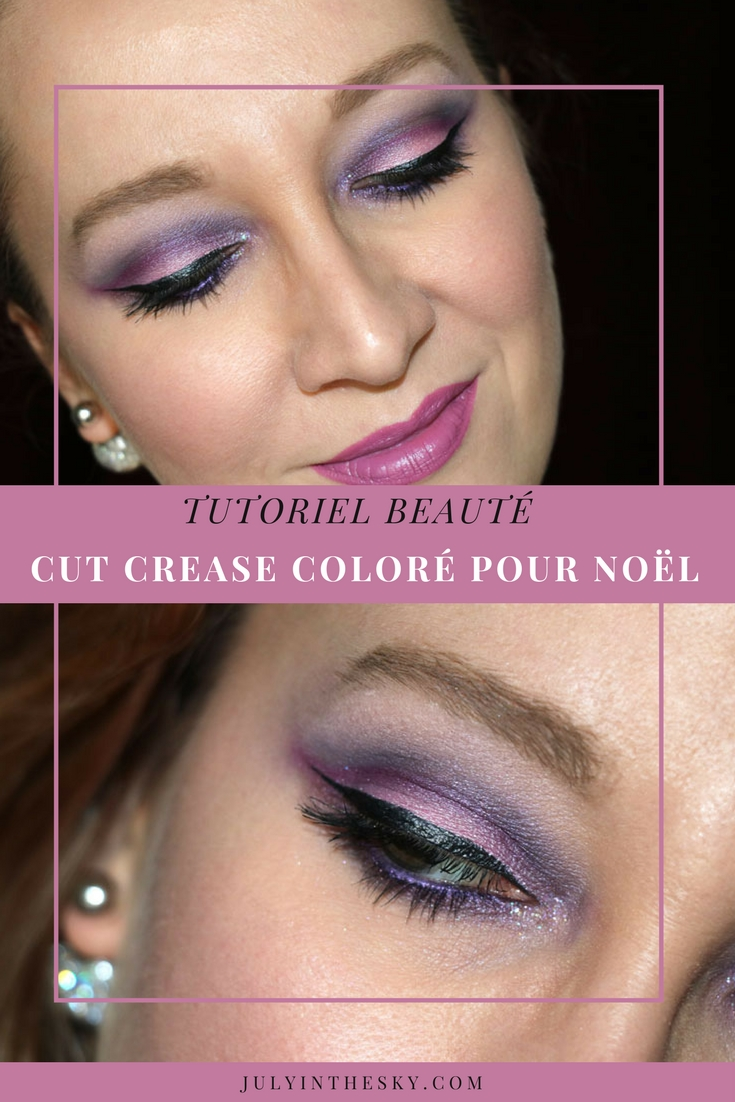 blog beauté make-up noel cut crease tutoriel