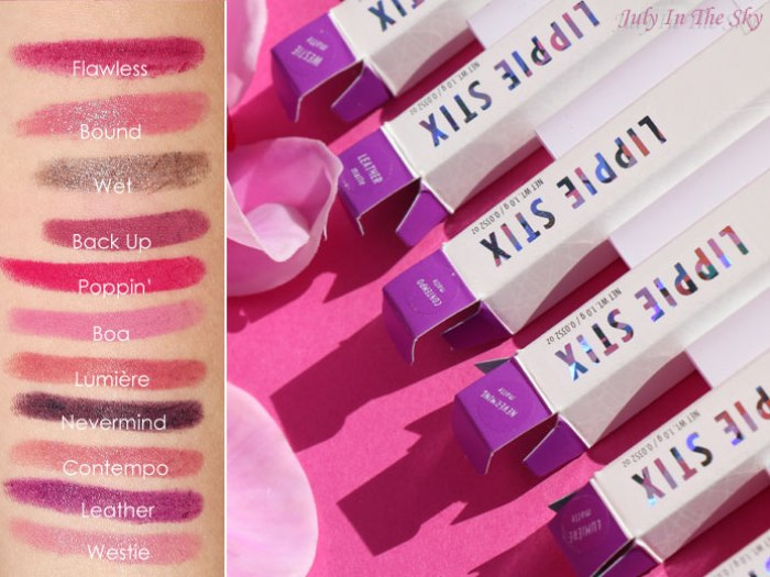 blog beauté colourpop lippie stix avis swatch