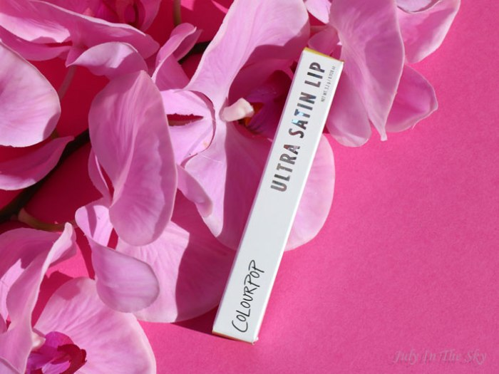 blog beauté colourpop ultra satin lip avis test swatch
