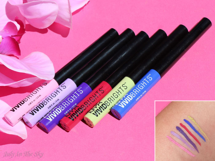 blog beauté nyx vivid brights liner swatch