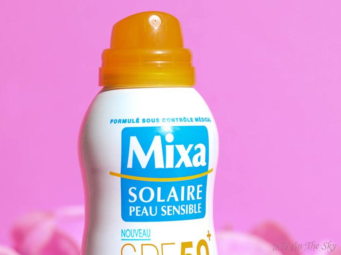 blog beauté mixa brume solaire peau sensible protection renforcée