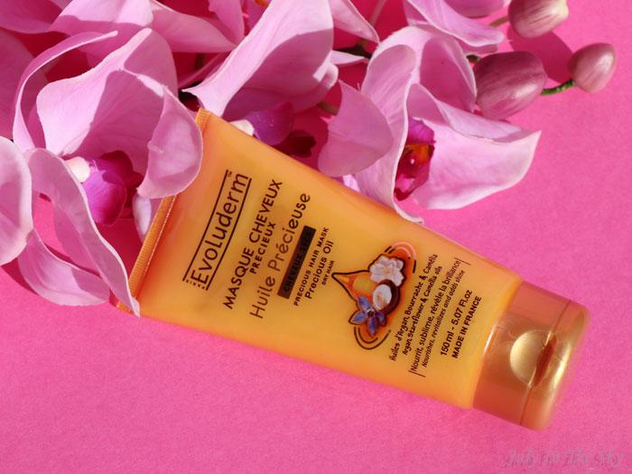 blog beauté evoluderm huile precieuse masque cheveux précieux