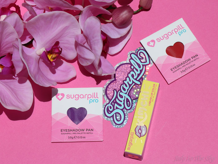 blog beauté sugarpill love+ poison plum eyeshadow pan liquid lip color