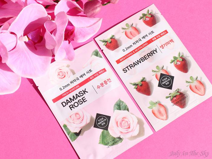 blog beauté mooni etude house sheet mask damask rose strawberry