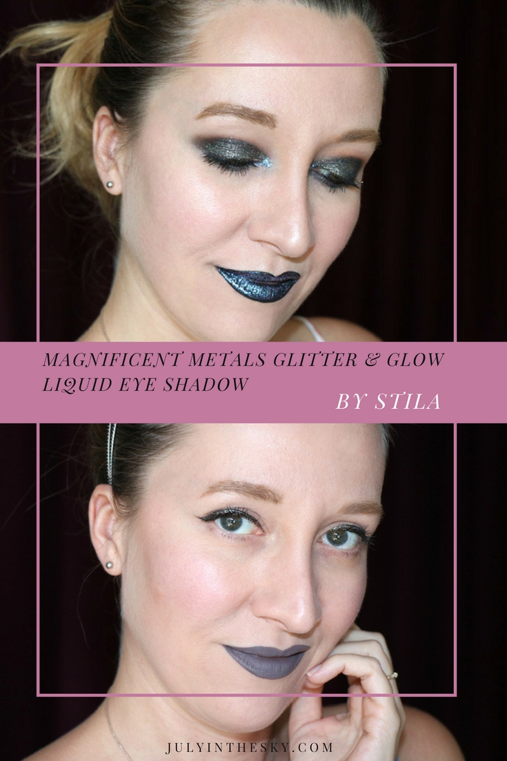 blog beauté stila magnificent metals glitter and glow liquid eye shadow molten midnight