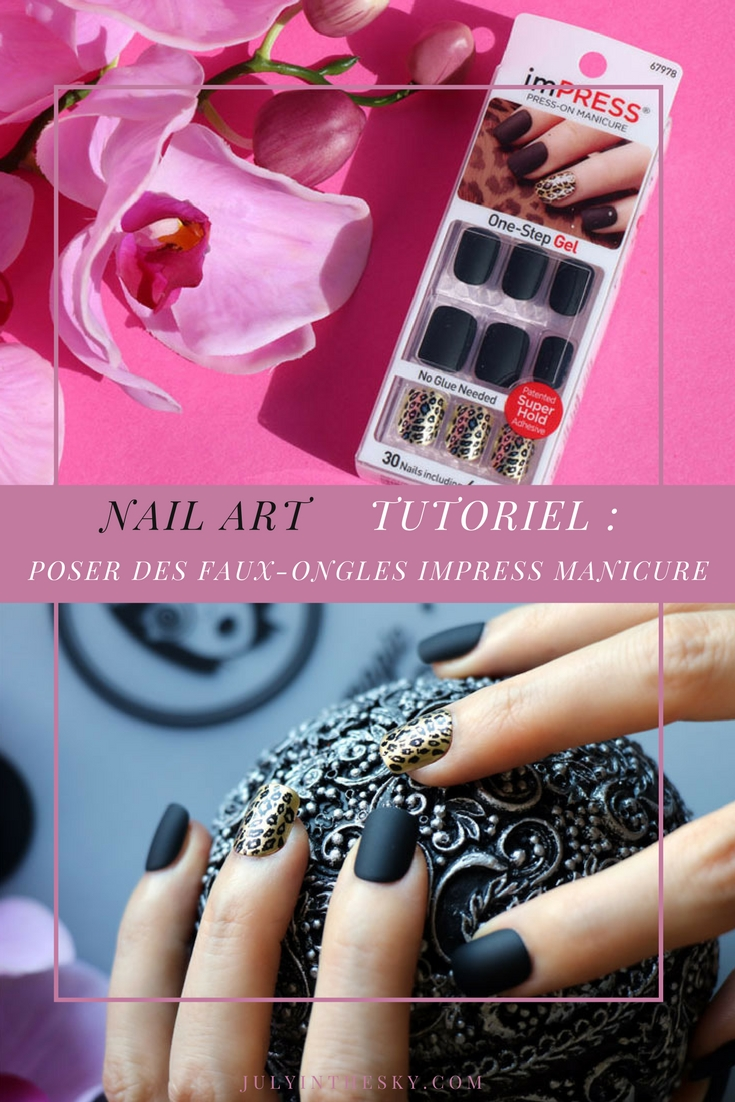 blog beauté nail art Impress Manicure Claim To Frame Kiss One Step Gel Tutoriel pose faux ongles