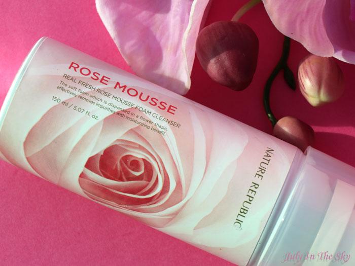 blog beauté Real Fresh Rose Mousse Foam Cleanser Nature Republic