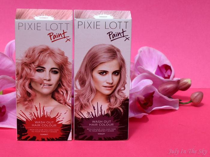 blog beauté Pixie Lott Paint Top Shop unicorn hair sorbet violet