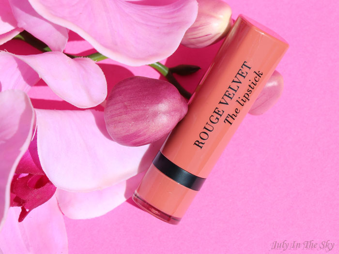 blog beauté Bourjois Rouge Velvet The Lipstick Peach Tatin avis test swatch